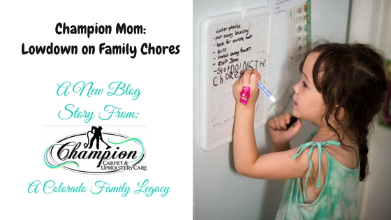 Champion Mom: The Lowdown on Family Chores