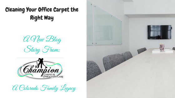 Cleaning Your Office Carpet the Right Way
